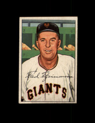 1952 FRED FITZSIMMONS BOWMAN #234 GIANTS EXMT #6430