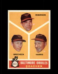 1960 BALTIMORE ORIOLES COACHES TOPPS #455 EX #6715