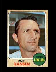 1968 RON HANSEN TOPPS #411 SENATORS NM/MT *6756