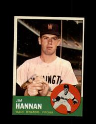 1963 JIM HANNAN TOPPS #121 SENATORS EXMT/NM #7982