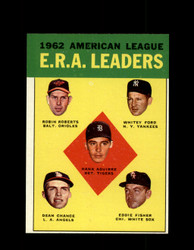 1963 AL ERA LEADERS TOPPS #6 WHITEY FORD ROBERTS CHANCE NM/MT #7985
