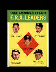 1963 AL ERA LEADERS TOPPS #6 WHITEY FORD ROBERTS CHANCE EXMT #7983