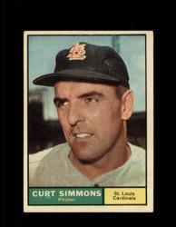 1961 CURT SIMMONS TOPPS #11 CARDINALS EX #6854