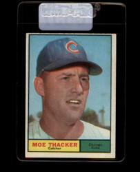 1961 MOE THACKER TOPPS #12 CUBS NM #6857
