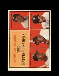 1961 AL BATTING LEADERS TOPPS #42 SKOWRON MINOSO VG/EX *6964