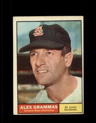 1961 ALEX GRAMMAS TOPPS #64 CARDINALS EX *7034