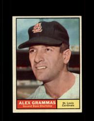 1961 ALEX GRAMMAS TOPPS #64 CARDINALS NM *7035