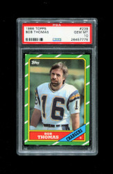 1986 BOB THOMAS TOPPS #239 CHARGERS PSA 10