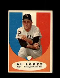 1961 AL LOPEZ TOPPS #132 WHITE SOX EX *7271