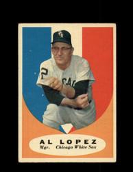 1961 AL LOPEZ TOPPS #132 WHITE SOX EX *7272
