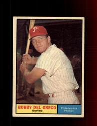 1961 BOBBY DEL GRECO TOPPS #154 PHILLIES EX *7353