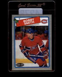 1988 BOBBY SMITH TOPPS #D BOX BOTTOM CANADIENS *4278