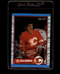 1989 AL MACINNIS OPC BOX TOP BLANK BACK FLAMES *2031