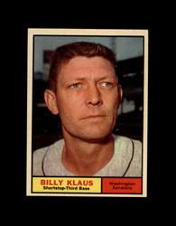 1961 BILLY KLAUS TOPPS #187 SENATORS EXMT *7479