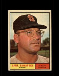1961 CARL SAWATSKI TOPPS #198 CARDINALS EX *7528