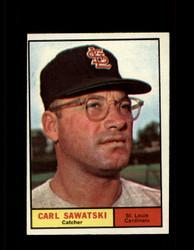 1961 CARL SAWATSKI TOPPS #198 CARDINALS NM *7532