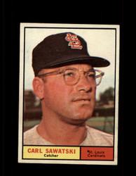 1961 CARL SAWATSKI TOPPS #198 CARDINALS EXMT *7533
