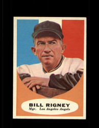 1961 BILL RIGNEY TOPPS #225 MGR ANGELS EXMT *7637