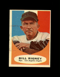1961 BILL RIGNEY TOPPS #225 MGR ANGELS EXMT *7638