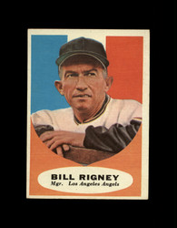 1961 BILL RIGNEY TOPPS #225 MGR ANGELS EXMT *7641