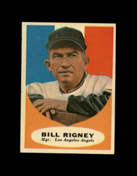 1961 BILL RIGNEY TOPPS #225 MGR ANGELS NM *7642