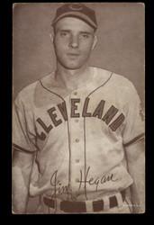 1947-1966 JIM HEGAN EXHIBITS CARD INDIANS VG-VG/EX