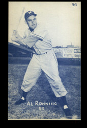 1953 AL RONNING CANADIAN EXHIBITS #56 BLUE TINT ROYALS NM