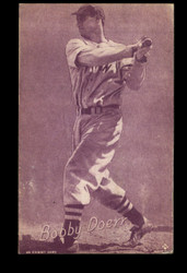 1953 BOBBY DOERR CANADIAN EXHIBITS #24 HOF RED TINT RED SOX *53013
