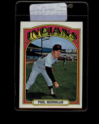 1972 PHIL HENNIGAN TOPPS #748 INDIANS EXMT-NM *5890
