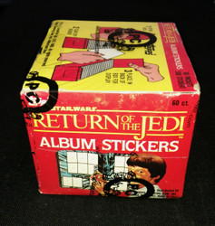 1983 TOPPS STAR WARS RETURN OF THE JEDI STICKERS BOX