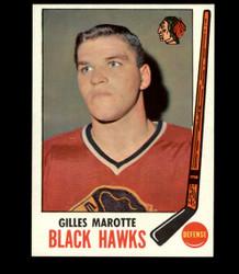 1969 GILLES MAROTTE TOPPS #68 BLACK HAWKS *6713