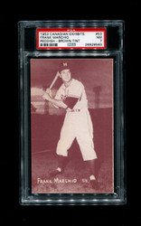 1953 FRANK MARCHIO CANADIAN EXHIBITS #53 REDDISH BROWN TINT PSA 7