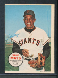1968 WILLIE MAYS OPC #15 O PEE CHEE POSTER INSERT GIANTS (0059)