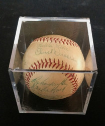 1952 NY YANKEES BROOKLYN DODGERS WS BASEBALL AUTO MANTLE CAMPANELLA PSA/DNA