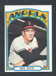 1972 DEL RICE TOPPS #718 ANGELS EXMT *8817