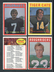 1972 OPC CFL FOOTBALL O PEE CHEE COMPLETE SET 132/132 *010