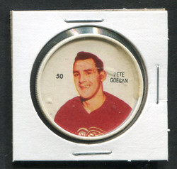 1960-61 PETE GOEGAN #50 SHIRRIFF/SALADA COINS RED WINGS *1604