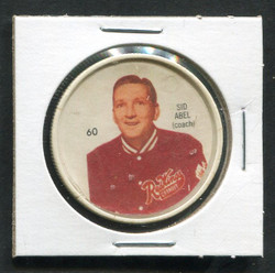 1960-61 SID ABEL #60 SHIRRIFF/SALADA COINS RED WINGS *8494