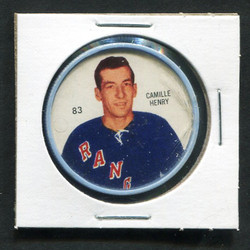 1960-61 CAMILLE HENRY #83 SHIRRIFF/SALADA COINS RANGERS *1032