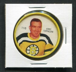 1960-61 JERRY TOPPAZZINI #110 SHIRRIFF/SALADA COINS BRUINS *4160
