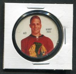 1960-61 BOBBY HULL #63 SHIRRIFF/SALADA COINS BLACK HAWKS *2330