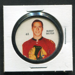 1960-61 MURRAY BALFOUR #65 SHIRRIFF/SALADA COINS BLACK HAWKS *1704