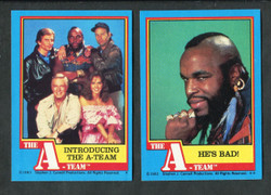 1983 TOPPS THE A- TEAM COMPLETE TRADING CARD SET 66/66