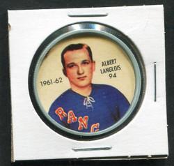 1961-62 ALBERT LANGLOIS #94 SHIRRIFF/SALADA COINS RANGERS *4211
