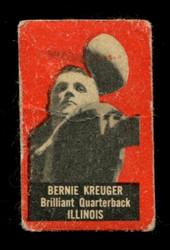 1950 BERNIE KREUGER TOPPS FELT BACKS ILLINOIS VG *6823