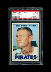 1967 BILLY ODELL OPC #162 O PEE CHEE PIRATES PSA 8