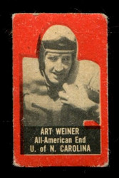 1950 ART WEINER TOPPS FELT BACKS NORTH CAROLINA VG/EX *4784