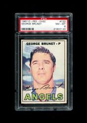 1967 GEORGE BRUNET OPC #122 O PEE CHEE ANGELS PSA 8