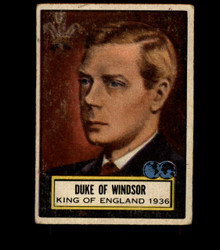 1952 DUKE OF WINDSOR TOPPS #103 LOOK 'N SEE VG *3228