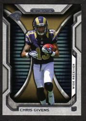 2012 CHRIS GIVENS  TOPPS STRATA #107  ROOKIE 12 CARD HOBBY LOT RAMS